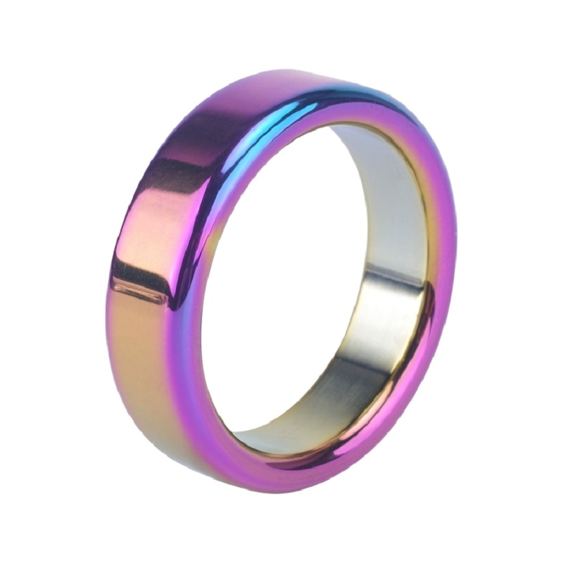 Dia 38 41 44 47 50mm For Choose Sexy Slave Metal Rainbow Penis Cock Ring Erection Male Ball Dondage Sex Toys For Men