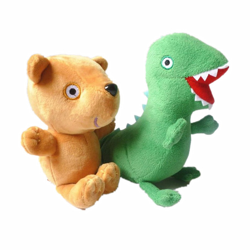 George Dinosaur Plush Stuffed Dolls Cute Pink Pig Bear Birthday Party Funny Gifts Soft Toys Baby Toys Children Kids Friends