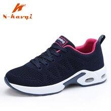 Купить с кэшбэком NKAVQI New Arrive Air Cushion Damping Sneakers Women Fashion Comfortable Ladies Casual Shoes Increased Shoes Women