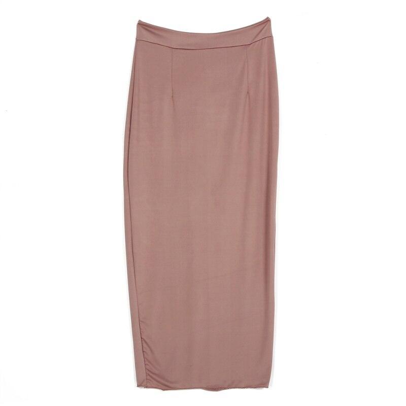 Women High Waist Office Pencil Skirt Straight Calf Length Midi ...