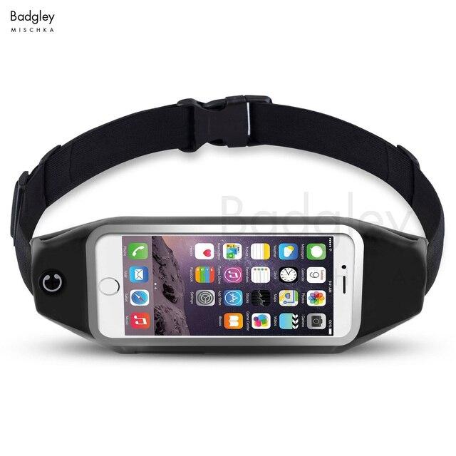 Спорт на открытом воздухе бегущая поясная сумка для телефона чехол для спортзала водонепроницаемый телефон кошелек для iPhone 6 6s 7 7 Plus для телефонов samsung