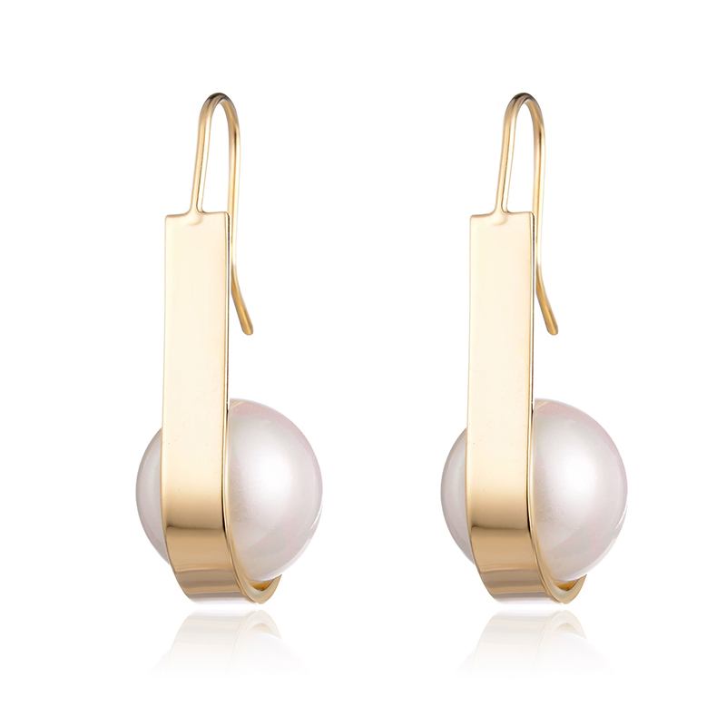 Simulated Pearl Long Drop Earrings For Women Gold Silver Color Copper Female Dangle Hanging Earring Fashion Ear Jewelry Brincos(China)