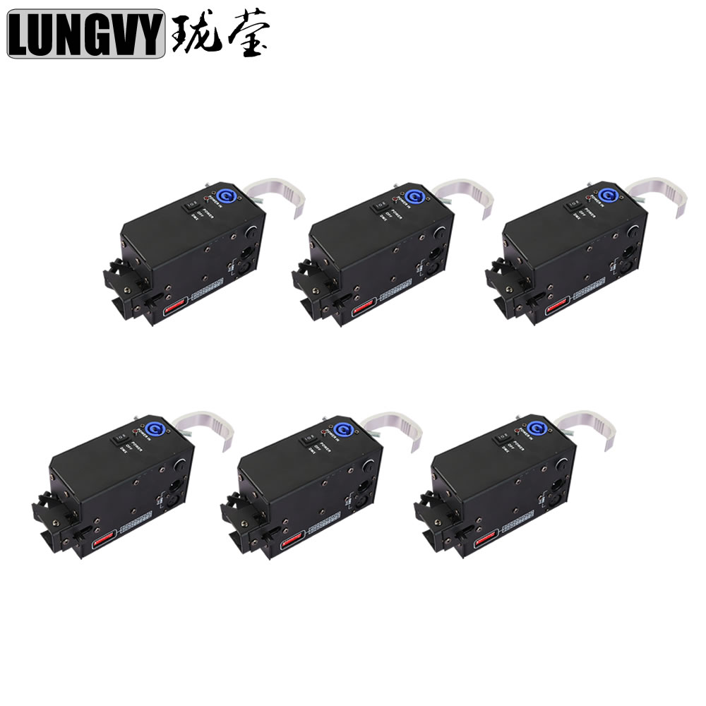 Free Shipping 6pcs/lot 2018 New DMX Controlled Hook Led Video/Star/Background Power Set Packed Drop