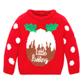 Christmas Clothes for Children Winter Kids Knitted Sweater Red Pullover Children's Sweater Fashion Boys & Girls Sweaters 2-7Yrs