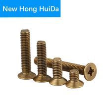 Phillips Brass Flat Head Machine Screw Metric Thread Cross Recessed Countersunk Metal Bolt Standard Hardware M2 M2.5 M3 M4 pack of 100 metric thread m3 5mm brass countersunk head phillips screws fasteners