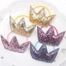 Новинка, цветная Корона, 5 цветов, Детские эластичные резинки для волос, аксессуары для волос для девочек, 1 шт