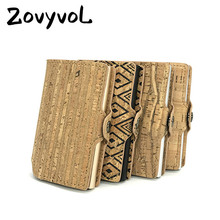 ZOVYVOL 2019 New Single Aluminum Box Vintage ID Holders Business Card Cases Plastic Holder Women and Men RFID Wallets