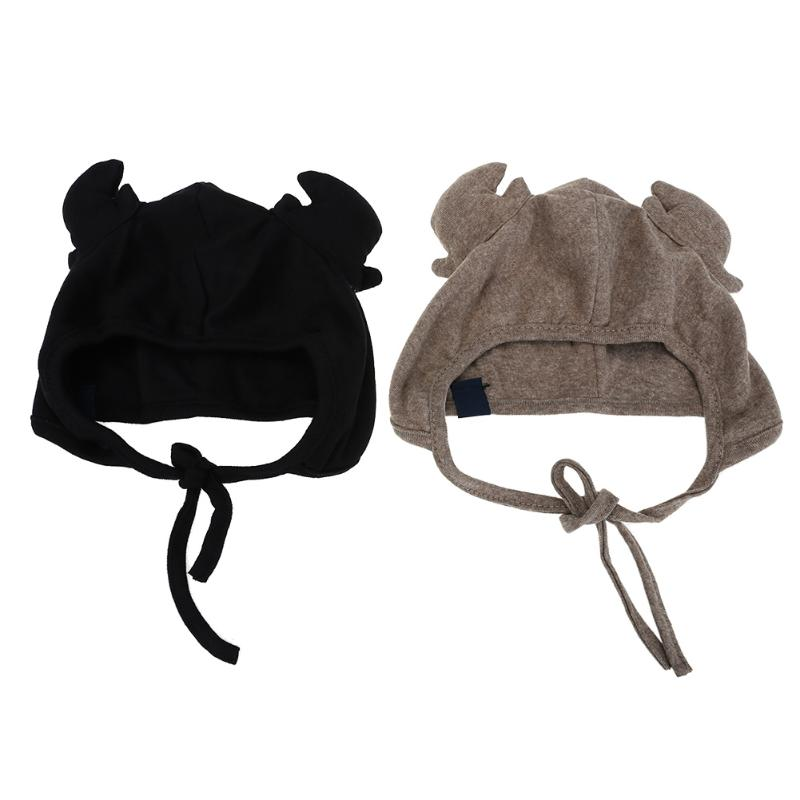 Black Coffee Autumn Baby Kids Cute Deer Hat Antlers Cap Toddler Infant Hat Photo Props for Baby Boys Girls Kids