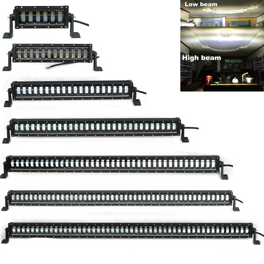 Car Accessories 12V 24V Single Row 10 17 24 32 42 50 52 Inch offroad Led Work Light Bar 4X4 4WD Truck Double Beam LED Bar Lights