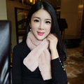 5 colors rex rabbit fur scarf for women solid soft warm ladies winter scarves girls neckerchief