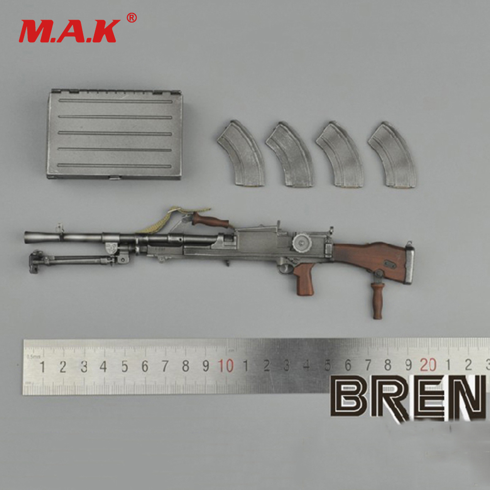 1/6 Scale Gun Model WWII British Soldier Bren Machine Gun Model for 12 inches Action Figure Accessories 1 6 scale rifle gun model for 12 inches action figure accessories collections x80028 m700pss x80026 psg1