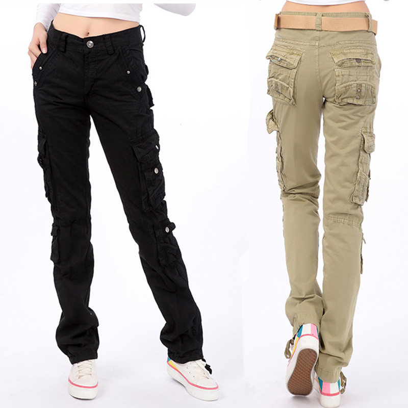 2019 New Arrival Fashion Spring Autumn Pants Loose Jeans Baggy Cargo Pants For Women Girls