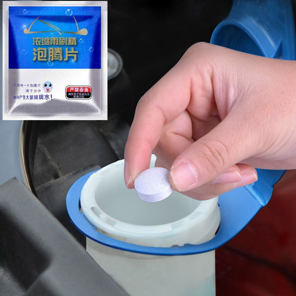 5pcs Auto Car Windshield Glass Wash Cleaning Concentrated Effervescent Tablets Cleaner
