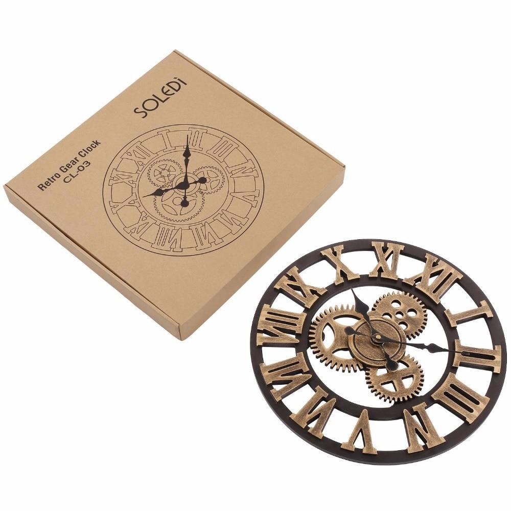 Soledi Vintage Clock Еуропалық Retro Vintage Қолмен - Үйдің декоры - фото 2