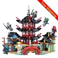 Ninja Temple Of Airjitzu Ninjagoes Smaller Version Bozhi 737 Pcs Blocks Set Compatible With Legoe Toys