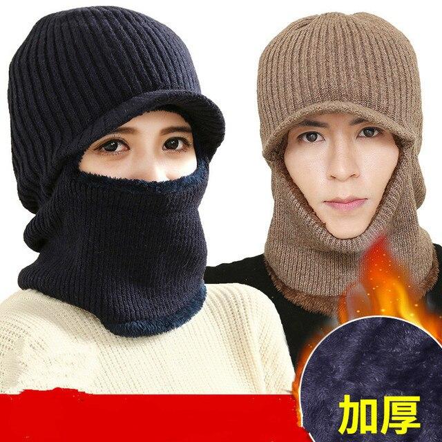 Neck Helmet Beanies Cap Face Mask Hats Warm Winter Fleece Balaclava