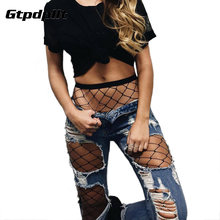 Gtpdpllt Sexy Mesh Fishnet Pantyhose 2018 New Spring Summer Black Slim Fishnet Tights Stockings Party Club Hosiery Large Grid(China)