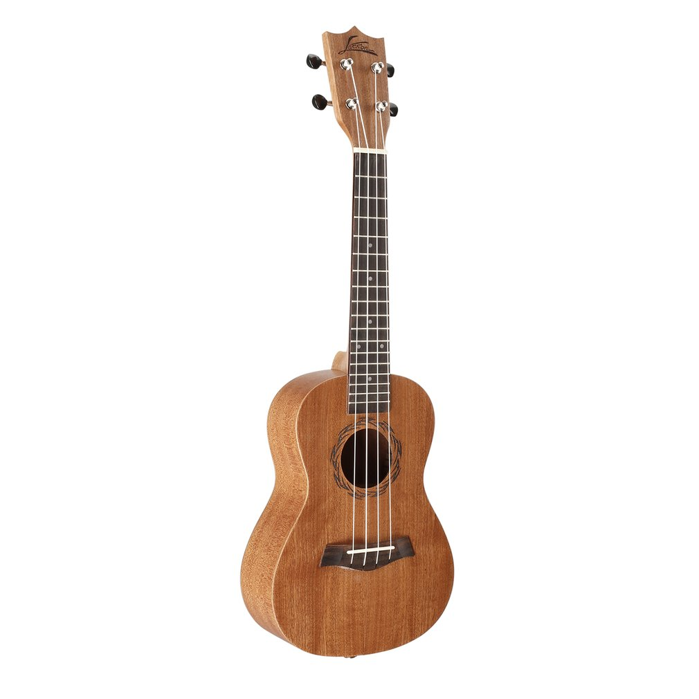 23 Inch Full Sapele Concert Ukulele 4 Strings Ukulele Solid Wood Hawaii Guitar Sapele Musical Instruments For Beginner zebra professional 24 inch sapele black concert ukulele with rosewood fingerboard for beginner 4 stringed ukulele instrument