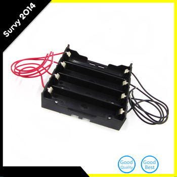 цена на Newest Plastic Battery Holder Storage Box Case For 4x 18650 Rechargeable Battery