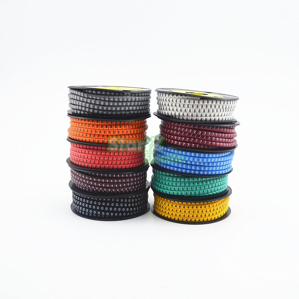 10rolls lot 0 to 9 number Cable Wire Marker EC 0 1 5mm2 EC 1 2