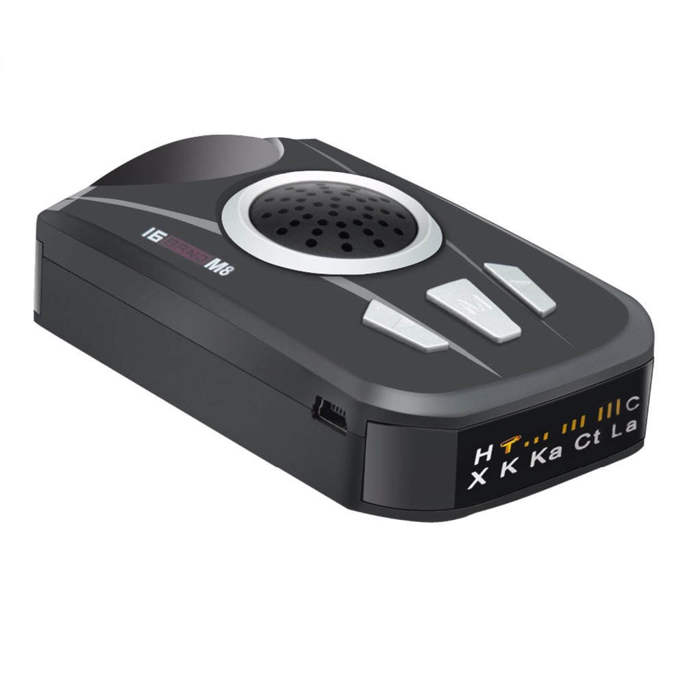 M8 Car Radar Detector Full Band Scansione Del Radar Dell'automobile Vocale di Allarme di Avvertimento Detector Controllo di Velocità Universale