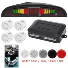 LIGHTHEART 1 Set Car Led Parking Sensor 5 Colors Parktronic Display 4 Sensors Reverse Assistance Radar Monitor Parking System