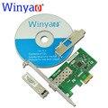 Winyao WYI210F PCI-Express X1 Двойной Порт 1000 Мбит SFP LC (нм) Gigabit Ethernet Lan Волокна сетевой карты Сервера Для intel I210 Nic