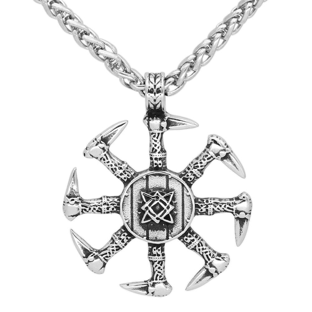 Kolovrat Slavic Svetoch Amulet Sterling stainless steel Norse Viking Pendant necklace