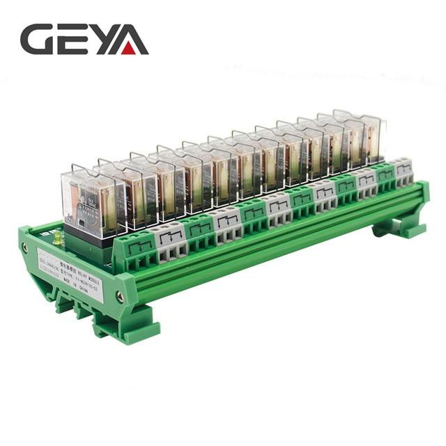 GEYA NG2R Din Rail 12 groupe relais Module Omron relais remplaçable 12VDC 24VDC SPDT relais