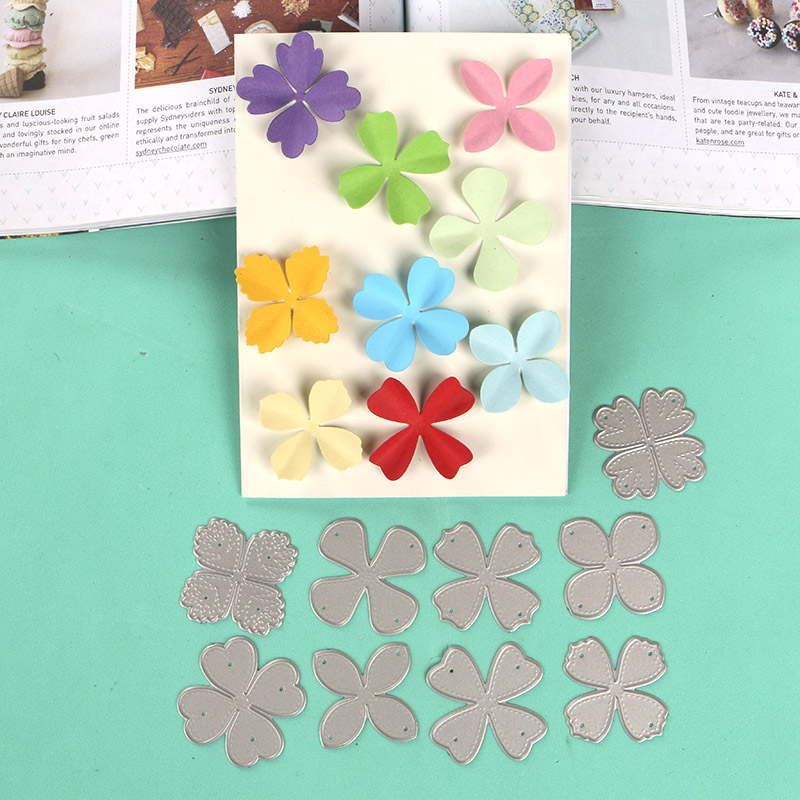 DUOFEN METAL CUTTING DIES Small Flowers Stencil For DIY Papercraft Projects Scrapbook Paper Album