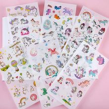 6 Sheets/set Creative Cute Unicorn Mini Paper Sticker Decoration Diy Ablum Diary Scrapbooking Label Sticker Kawaii Stationery(China)
