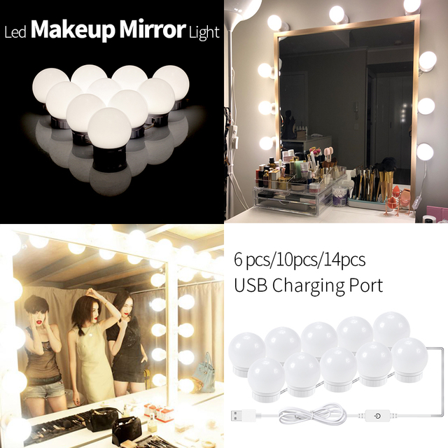 Canling Led Makeup Mirror Light Usb 12v Diy Vanity Mirror Lamp Kit