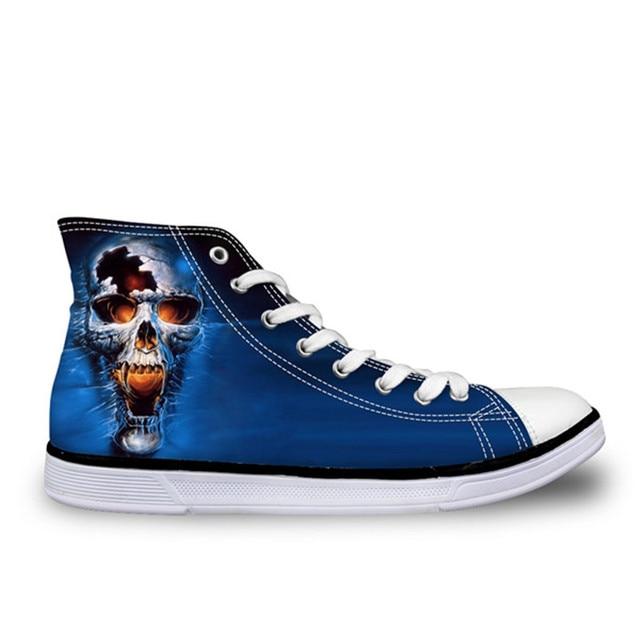 Mens Printing Shoes Classic Skull 3d High Fashion Forudesigns Top Canvas Qbwp4fx7x Casual f0xfqr