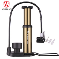 WHEEL UP Light Mini Portable Pump Ultra light Bike Pump Foot Hose With High Pressure Bicycle Pump Pressure Gauge With 120 Psi