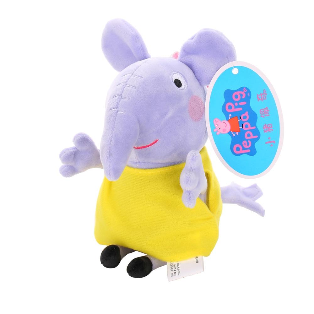 Оригинальные 19 см Свинка Пеппа Джордж Животные Мягкие плюшевые игрушки мультфильм семья друг свинка вечерние куклы для девочек детские подарки на день рождения - Цвет: G