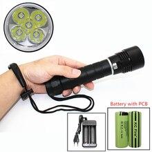 spearfishing light Diving flashlight 5x CREE XM-L2 LED 4200 Lumen Underwater waterproof lanterna + PCB 26650 battery + Charger