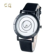 2017 Nuevo Diseño  Minimalista Moda cuarzo reloj del hombre y Neutral mujeres reloj de Cuero Redondo Creativo reloj Nava Ora Unica nero