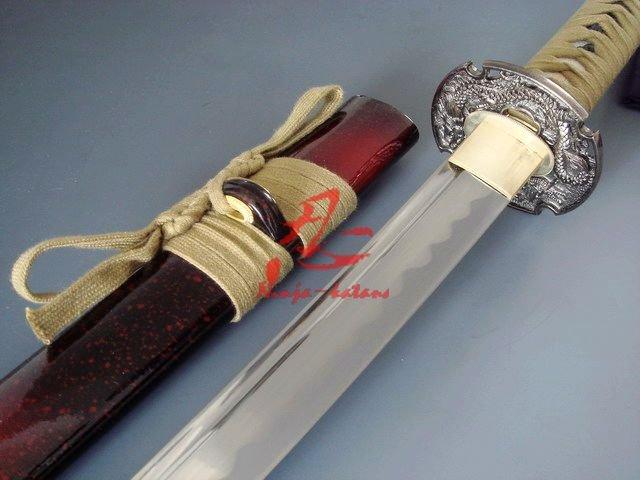 Ev ve Bahçe'ten Kılıçlar'de El dövme jp ejderha katana unsharp kenar iaido kılıç'da  Grup 1