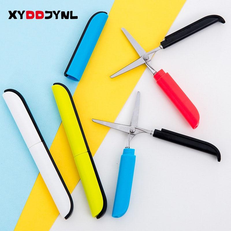 1 Pcs Mini Pocket Scissors Colour Cute Kawaii Stationery Scrapbook Paper Kids Safety Portable Cutting Tools School Supplies
