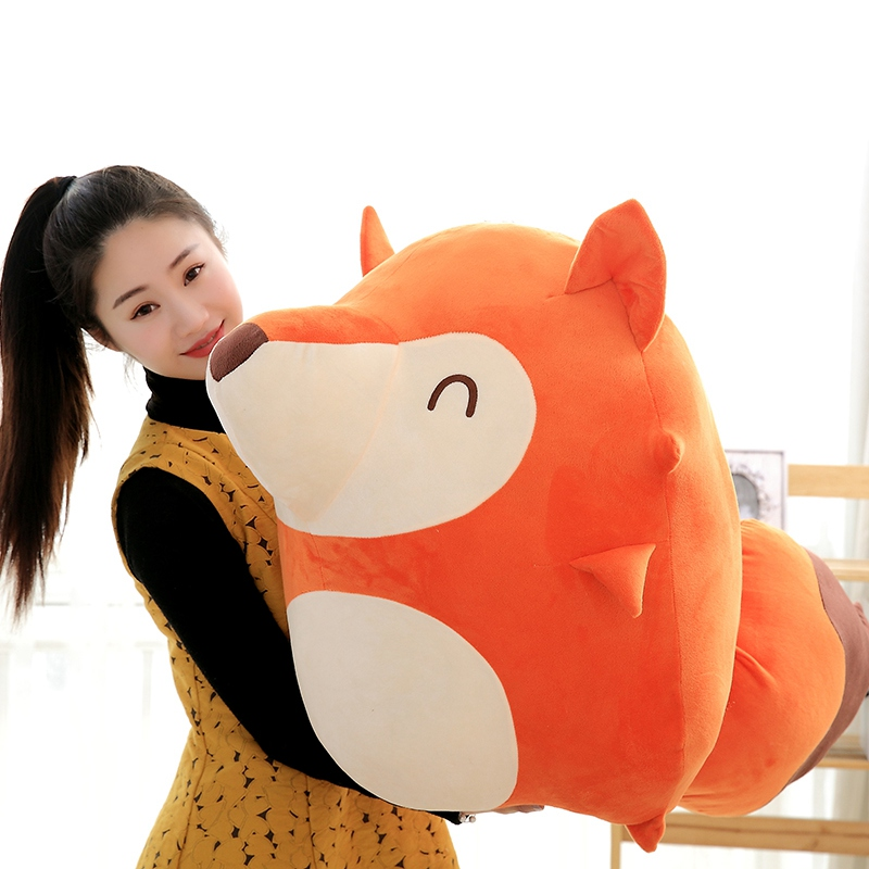 65cm Big Cute Ali Fox Lover Baby Soft Doll Plush Toys Soft Cotton Stuffed Animals Toys,Birthday Gift 1pc 50 85cm 3 colors cute lying down french bulldog plush stuffed toy doll model soft cotton dog pillows baby kids birthday gift