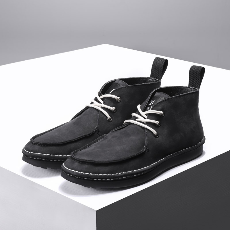 Luxe À Hommes Lacets De Vache Noir Cuir Véritable allumette AffairesRobe Créateur En Tout Peau Chaussures Bottes Mens OPkNwnX80