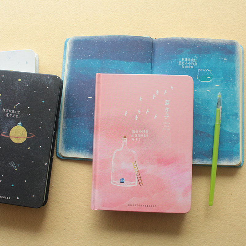 Creative trend Color Pages A5 Notebook Little Blue House Diary Book Hardcover di