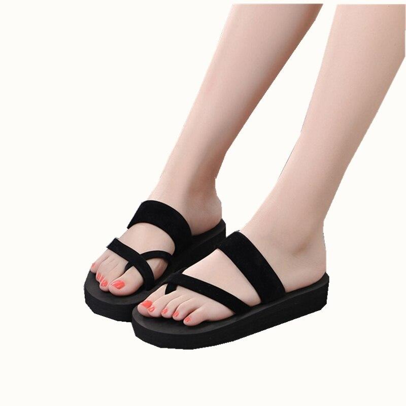 2018 New Women Summer Platform Shoes Fashion bath  Outdoor Flip Flop Shoes   Beach Sandals Shoes