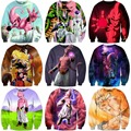 Classic Anime Dragon Ball Z 3D Sweatshirt Characters Goku/Majin Buu Print Crewneck Pullovers Women Men Long Sleeve Outerwear