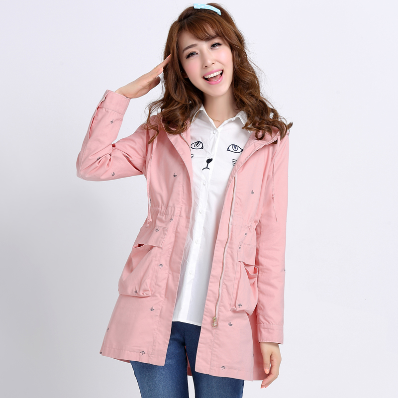 2015 New Spring Autumn Teenagers Trench Coat Long Coat Student ...