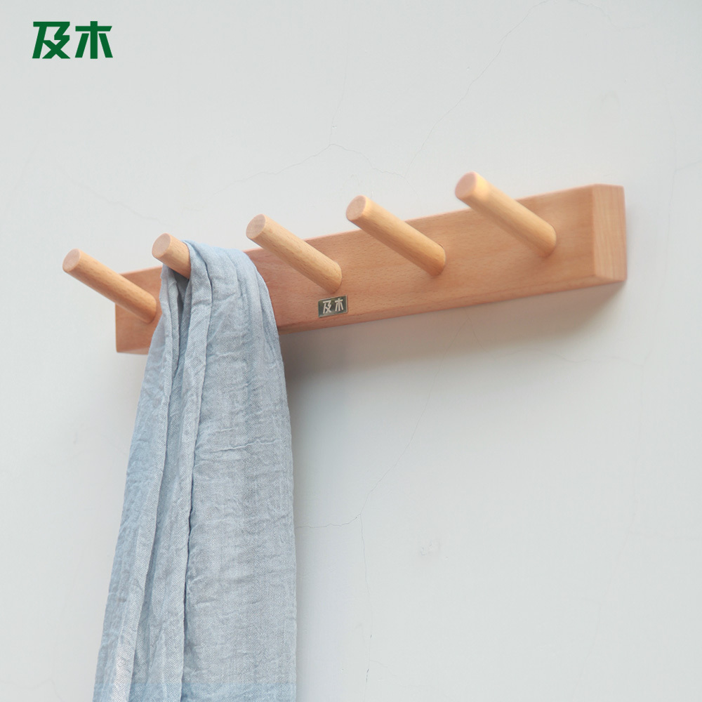 And wood modern minimalist wall hook hangers imported beech wood wall coat  rack full of creative YJ005-in Corner Brackets from Home Improvement on ...