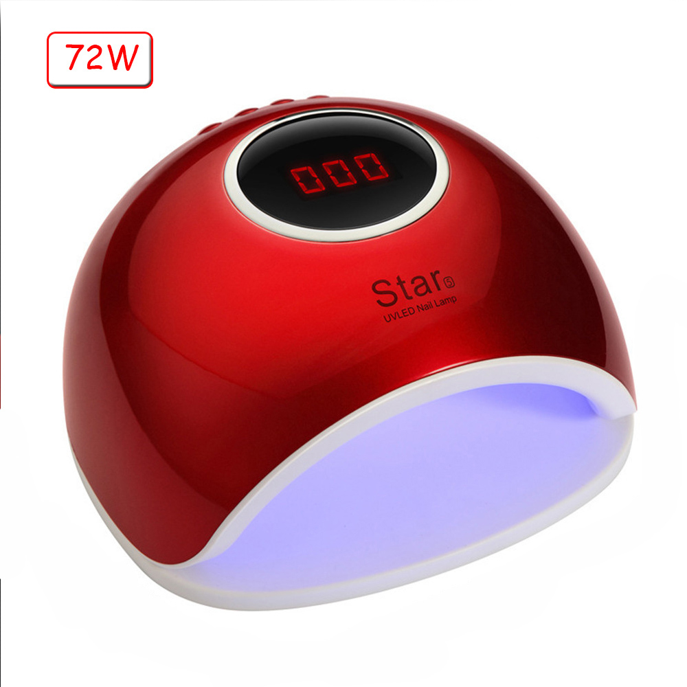 72/48/40W UV LED Nail Lamp Nail Dryer For All Gels Polish Infrared Sensing 10/30/60/99s Timer Smart For Manicure LCD Display