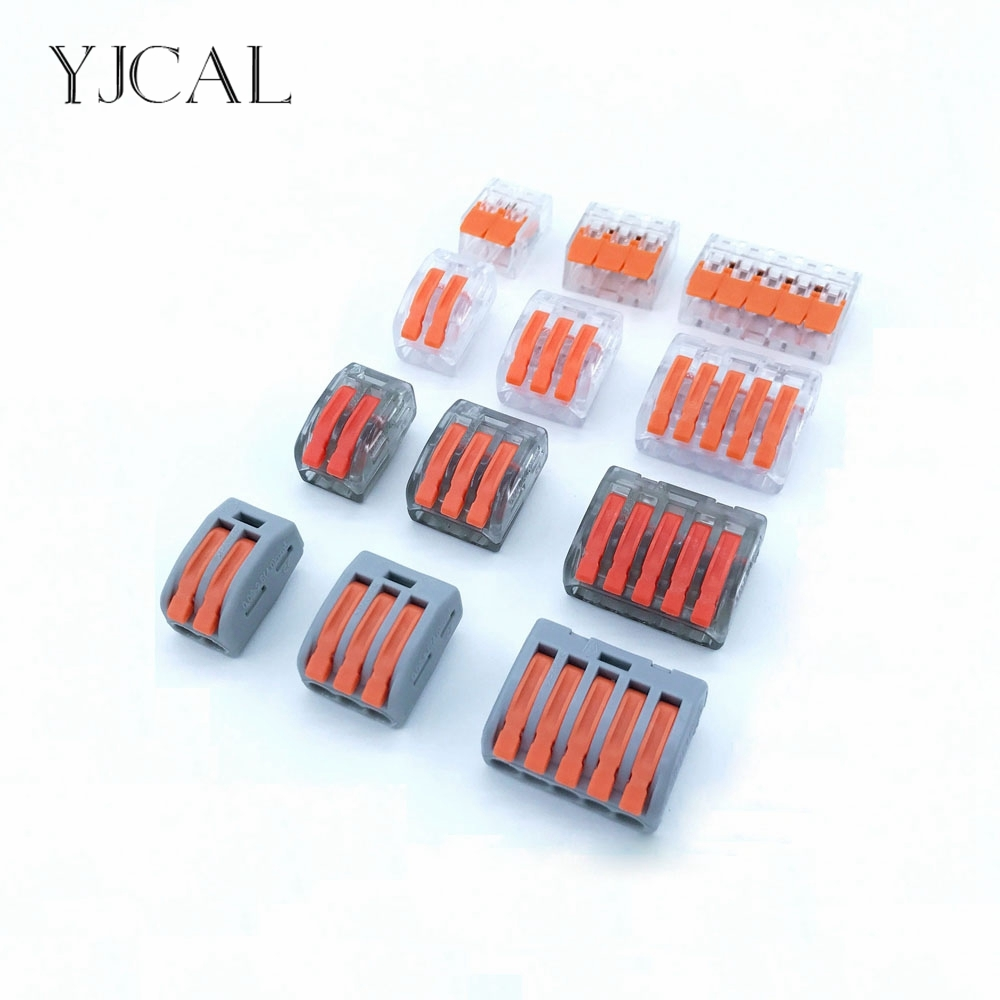 Wago Type Wire Connector 15PCS 412 And 413 And 415 Compact Splicing Quick Disconnect Cage Spring Universal Terminal Block China