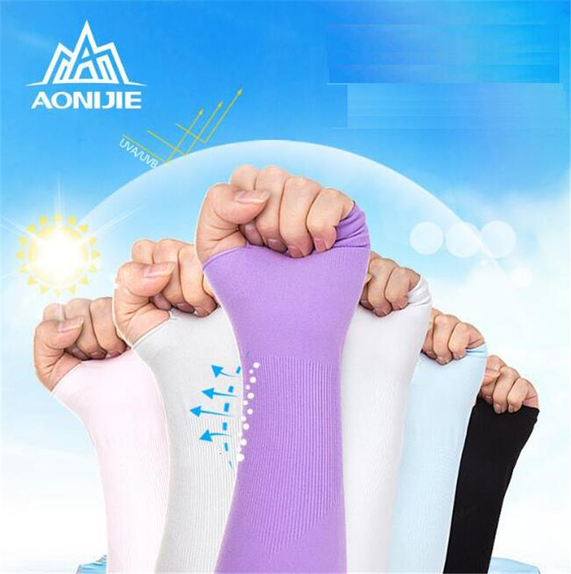 AONIJIE 1 Pair Sunscreen Breathable Cuff Sleeves Sport Bicycling Driving Running Glove UV Protected Arm Warmer