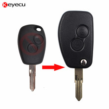 Keyecu New Flip Modified Remote Key Shell Case Car Key Cover 2 Buttons for Renault Megane
